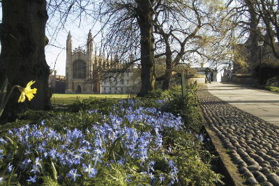 King's College Chapel in Spring